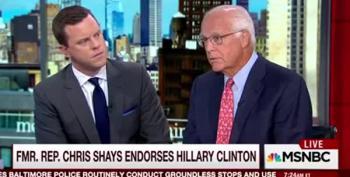 Former GOP Congressman Endorses Hillary Clinton