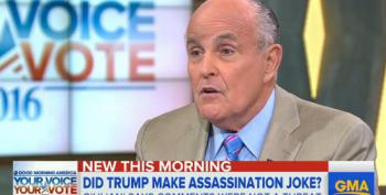 Rudy Tries To Defend Trump's 2A Threat Against Hillary