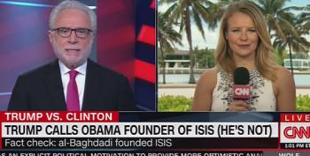 CNN Fact Checks Trump's Claim That Obama Is Founder Of ISIS: (He's Not)