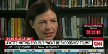 The Trump Anvil Weighs Heavy Around Kelly Ayotte's Neck