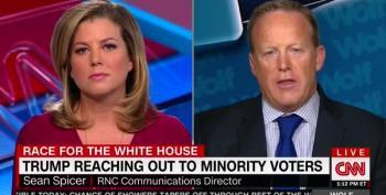 CNN's Brianna Keilar Turns Sean Spicer Into Jelly Over Trump's Minority Outreach