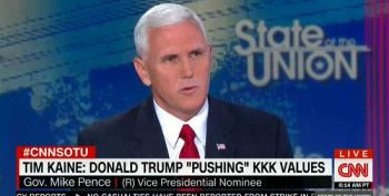 Mike Pence Calls Democrats' Accusations Of Racism 'Desperate'