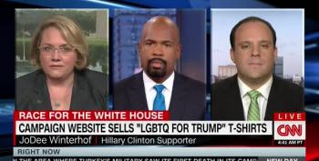 Trump Flack's Idea Of LGBTQ Outreach: Selling T-Shirts And Banning Syrian Immigrants