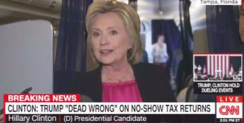 Hillary Clinton: Trump 'Dead Wrong' On Releasing Tax Returns