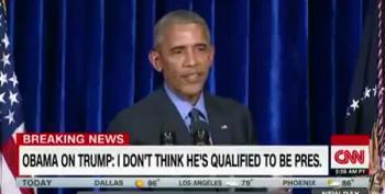 Obama Slams Press For 'Normalizing' Trump's Behavior