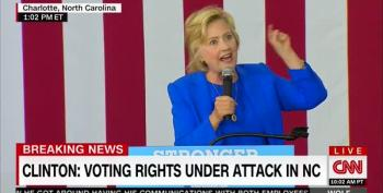 Clinton Vows To Repair Voting Rights Destroyed By Republicans