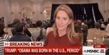 Stage Collapses As Katy Tur Gives Live Report From Trump Event