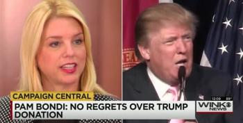 Pam Bondi Defends Keeping Trump's Donation