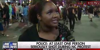 Charlotte Protester Yells At Fox News Reporter: 'You Wanna Make A F*cking Fabricated Story'