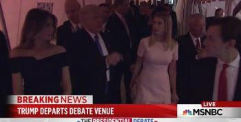 Donald Trump Appears To Have Hissy Fit As He Leaves Debate Venue