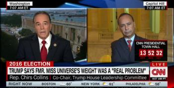 Rep. Chris Collins Blames Hillary Over Miss Universe Flap At Presidential Debate