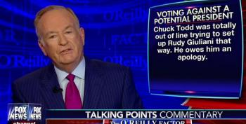 Bill O'Reilly Says Chuck Todd Should Apologize To Rudy Giuliani? Really?