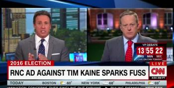 RNC's Sean Spicer Shocked Anybody Compares Tim Kaine Ad To Willie Horton, Except He Did It: UPDATED