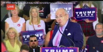 Rudy Giuliani Tells Rallygoers To Shove Hillary's Health Care Up  Her %^^&^$*