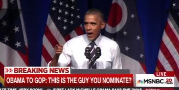 President Obama Rips GOP In Ohio: 'This Is The Guy You Nominate?'