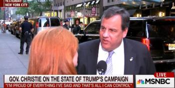 Chris Christie Throws Trump Campaign Under The Bus