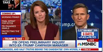 Gen. Michael Flynn Scolds MSNBC Host  Being Mean To Putin: 'Stop It With That Kind Of Stuff'