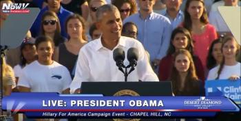 President Obama Blasts Sen. Burr For Obstructing Supreme Court And Attacking Hillary