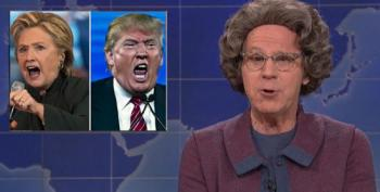 SNL: Dana Carvey's 'Church Lady' Accuses Colin Jost Of Voting For Satan