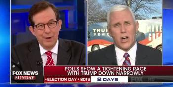 Chris Wallace Quizzes Mike Pence's Claims Of Huge Hispanic Turnout For Trump