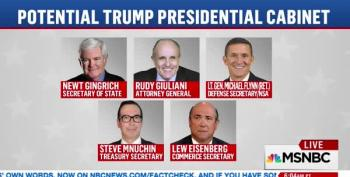 The Trump Cabinet Takes Shape