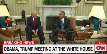 President Obama Meets Donald Trump At The White House