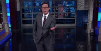Stephen Colbert Breaks Down Trump's First White House Visit