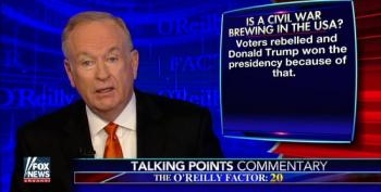 Bill O'Reilly Fearmongers Over Possibility Of Civil War In America