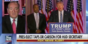 Mike Huckabee Calls Utterly Unqualified Dr. Ben Carson 'A Terrific Choice' For HUD Secretary
