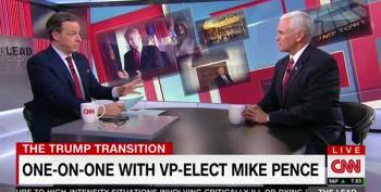 VP Elect Pence Repeatedly Tries To Duck CNN's Questions On Michael Flynn Jr. And Pizzagate