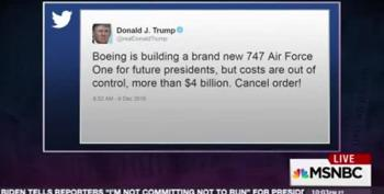That Boeing Tweet Was All About Trump's Ego