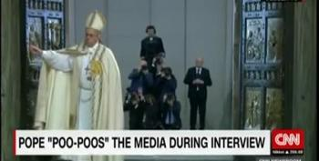 Pope Says Fake News Lovers Are The Same As Poop Eaters
