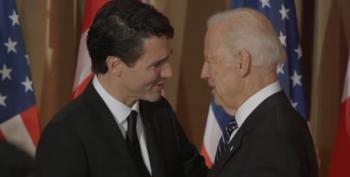 Joe Biden Hails Trudeau/Merkel As Last Liberals Standing