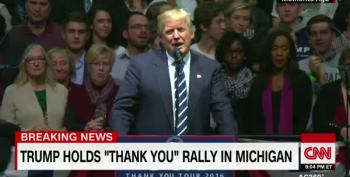 Trump Tells Michigan Rally: 'Lock Her Up' Was For Election