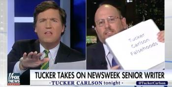 Kurt Eichenwald Challenges Tucker Carlson With Binder Full Of Falsehoods