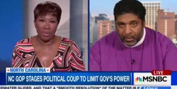 AM Joy: Rev William Barber Plans Lawsuits Against NC Coup