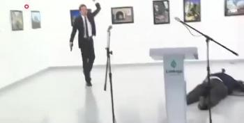 Video: Russian Ambassador's Assassin Shouts About Aleppo As He Shoots