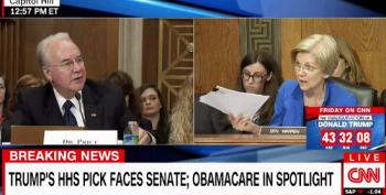 Sen. Warren Clashes With Tom Price Over His Refusal To Answer Funding Questions On Medicare, Medicaid