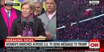 Ashley Judd, Elizabeth Warren At Women's Marches