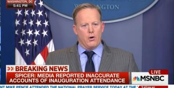 Sean Spicer Attacks The Media Over Reports On Crowd Size At Insane First Presser