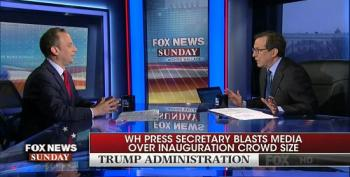 Chris Wallace Slams Priebus For 'Ridiculous' Argument Over Crowd Size