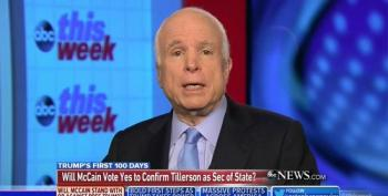 McCain Says He'll Vote For Former Exxon CEO Tillerson For Secretary Of State