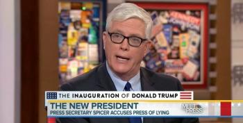 Hugh Hewitt Excuses Spicer's Gaslighting On Crowd Sizes: Some Staffer 'Gave Him Bad Data'