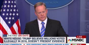 Sean Spicer Stands By Trump's Lie About Voter Fraud