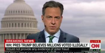 Jake Tapper Calls Out Trump's Lies About Widespread Voter Fraud