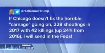 Trump's Chicago 'Carnage' Tweet Proves He's Completely Mental