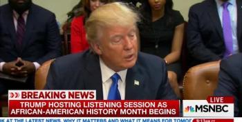 Donald Trump Blast CNN As 'Fake News' While Honoring Black History Month