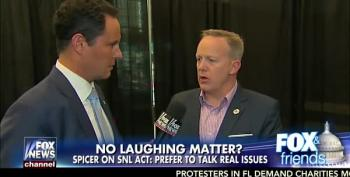 Sean Spicer Tells Fox And Friends: Paid Protesters Are Astroturfing Trump