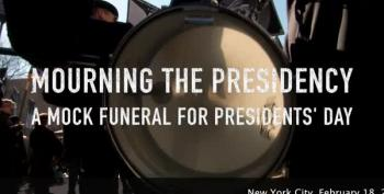 NYC Activists Hold Mock-Funeral For The American Presidency