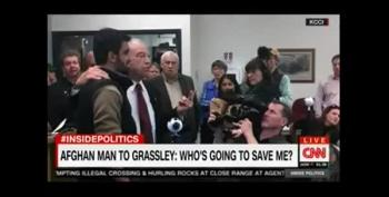 Afghan Translator Immigrant At Grassley Town Hall: 'Who Will Save Me?'